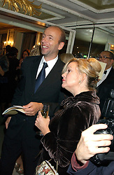 KAY SAATCHI and ERIC FELLNER at the Chain of Hope 10th Anniversary Ball held at The Dorchester, Park Lane, London on 1st November 2005.<br /><br />NON EXCLUSIVE - WORLD RIGHTS