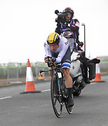 Thursday 7th September 2017: Team Lotto Jumbo rider, Victor Campenaerts, was 2nd on the day. The stage was an ITT around the Tendring district.
