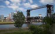 Cleveland skyline from Wendy park