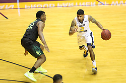 Jan 9, 2018; Morgantown, WV, USA; West Virginia Mountaineers guard James Bolden (3) dribbles the ball during the second half against the Baylor Bears at WVU Coliseum. Mandatory Credit: Ben Queen-USA TODAY Sports