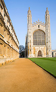 King's College chapel, Cambridge university, Cambridgeshire, England