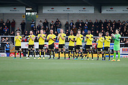 Burton Albion observe minute applause in memory of Graham Taylor during the EFL Sky Bet Championship match between Burton Albion and Wigan Athletic at the Pirelli Stadium, Burton upon Trent, England on 14 January 2017. Photo by Richard Holmes.