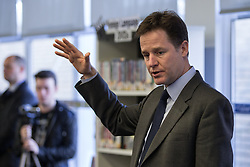 © Licensed to London News Pictures . 07/02/2014 .  Southport , UK . NICK CLEGG , leader of the Liberal Democrats and Deputy Prime Minister , at a Q&A with students from King George V College at Southport College today (7th February 2014)  . Photo credit : Joel Goodman/LNP