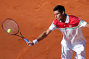 Roland Garros 2011. Paris, France. May 25th 2011..Romanian player Victor HANESCU against Novak DJOKOVIC