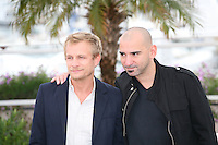 Jérémie Renier and Pablo  Trapero at the Elefante Blanco film photocall at the 65th Cannes Film Festival. Monday 21st May 2012 in Cannes Film Festival, France.