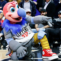 12 December 2016: Chuck the California Condor is seen during the LA Clippers 121-120 victory over the Portland Trail Blazers, at the Staples Center, Los Angeles, California, USA.