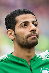 June 14, 2018 - Moscow, Russia - 180614 Taiseer Aljassam of Saudi Arabia prior the FIFA World Cup group stage match between Russia and Saudi Arabia on June 14, 2018 in Moscow..Photo: Petter Arvidson / BILDBYRN / kod PA / 92065 (Credit Image: © Petter Arvidson/Bildbyran via ZUMA Press)
