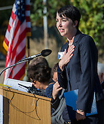 Heather Cook comments during a groundbreaking ceremony at Wilson Montessori, November 15, 2016.