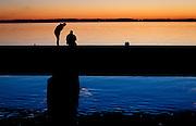 Fishermen chatting along the East side of Lake Kegonsa, Saturday, October 11, 2014.