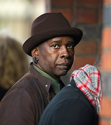 © London News Pictures. 05/11/2014. Caribbean American guitarist VERNON REID attends the funeral of Jack Bruce at Golders Green Crematorium in North London. Jack Bruce was the lead singer and bass player for British Rock band Creme, alongside Eric Clapton and Ginger Baker. Creme sold over 15 million albums worldwide and were widely considered to be the worlds first successful supergroup. Photo credit : Ben Cawthra/LNP