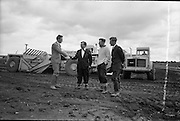 18/06/1963.06/18/1963.18 June 1963 .Euclid T.S.14 machines handed over by Blackwood Hodge at Tynagh, Co. Galway.  Mr. J. Daly, General Manager of Blackwood Hodge (Left) handing over the machines.
