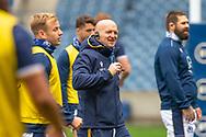 Scotland head coach, Gregor Townsend is all smiles during the Scotland Team Run at BT Murrayfield, Edinburgh, Scotland on 22 October 2020, ahead of Scotland v Georgia.