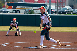 NORMAL, IL - April 06: Morgan Day during a college women's softball game between the ISU Redbirds and the University of Northern Iowa Panthers on April 06 2019 at Marian Kneer Field in Normal, IL. (Photo by Alan Look)