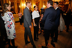 The Duke and Duchess of Sussex (both centre)speak to guests the annual Endeavour Fund Awards at DrapersÕ Hall, London, to celebrate the achievements of wounded, injured and sick servicemen and women who have taken part in remarkable sporting and adventure challenges over the last year.