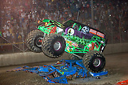MONSTER TRUCK_Grave Digger in action during the Monster Truck Challenge at the Orange County (NY) Fair Speedway July 29, 2004.