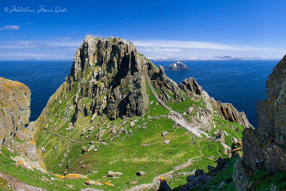 Christ's Saddle on Skellig Michael, Co. Kerry, Ireland<br /> <br /> Star Wars Movie Location ****** <br /> <br /> Visit & browse through my Photography & Art Gallery, located on the Wild Atlantic Way & Skellig Ring between Waterville and Ballinskelligs (Skellig Coast R567), only 3 minutes from the main Ring of Kerry road.<br /> https://goo.gl/maps/syg6bd3KQtw<br /> <br /> ******<br /> <br /> Contact: 085 7803273 from an Irish mobile phone or +353 85 7803273 from an international mobile phone