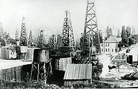 Oilfield derricks at Belmont Blvd. & Rockwood St.
