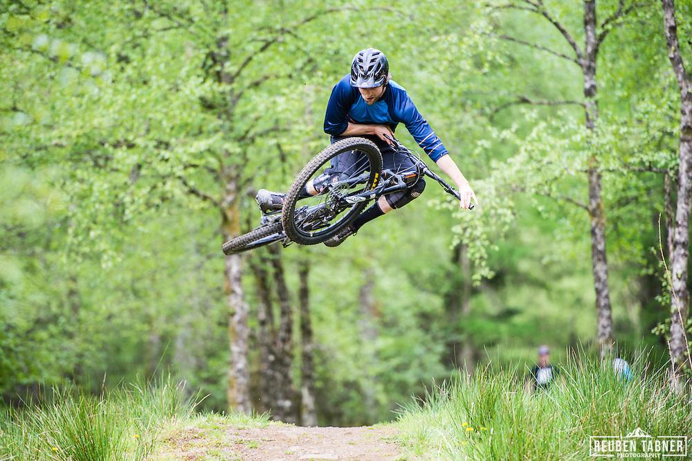 Ed Thomsett whips it out at Kielder Forest on his Vitus Sommet CR.