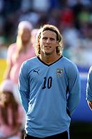 Fotball , 28. mai 2008 , Privatlandskamp Norge - Uruguay Norway - Uruguay 2-2<br /> <br /> Diego Forlan , Uruguay