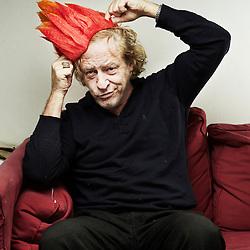 PARIS, FRANCE. OCTOBER 13, 2012. Frederic Joignot, journalist, author, novelist, and magazines' creator, at home. Photo: Antoine Doyen