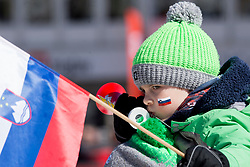 Young supporters during the Ski Flying Hill Individual Qualification at Day 1 of FIS Ski Jumping World Cup Final 2018, on March 22, 2018 in Planica, Ratece, Slovenia. Photo by Urban Urbanc / Sportida