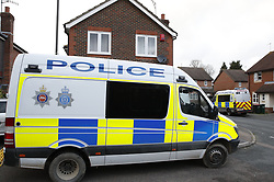 © Licensed to London News Pictures. 22/12/2018. Crawley, UK. Police are seen outside a property in Crawley. Is is not clear if this is in connection with the couple detained by police over the Gatwick drone attacks. Photo credit: Peter Macdiarmid/LNP