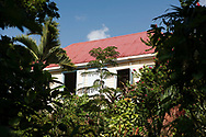 John Criswick's colonial style house overlooking his tropical garden at the St. Rose Nursery, La Mode, St. George's, Grenada, West Indies, Grenada