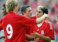 Fotball ,  05. august 2008 ,  Privatkamp , Vålerenga - Liverpool<br />  Valerenga - Liverpool<br /> <br /> Yossi  Benayoun , Robbie Keane  , Fernando Torres , Liverpool