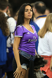 3rd June 2017 - UEFA Champions League Final - Juventus v Real Madrid - Georgina Rodriguez, girlfriend of Cristiano Ronaldo of Real - Photo: Simon Stacpoole / Offside.