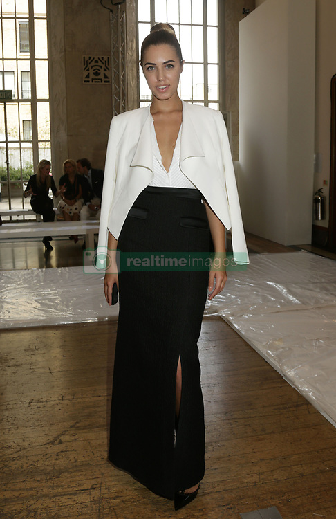 Amber Le Bon attends the Temperley catwalk show at RIBA, London, during London Fashion Week.