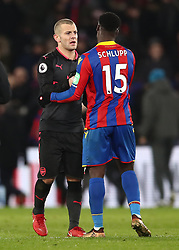 Arsenal's Jack Wilshere (left) and Crystal Palace's James McArthur after the Premier League match at Selhurst Park, London.