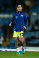 Marin Leovac of Dinamo Zagreb during the pre-match warm-up <br /> <br /> Football - 2019 / 2020 UEFA Champions League - Champs Lge Grp C: Man City-D Zagreb<br /> <br /> , at Etihad Stadium<br /> <br /> Colorsport / Terry Donnelly