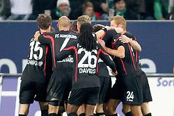 21.10.2011, SGL Arena, Augsburg, GER, 1.FBL, FC Augsburg vs. Werder Bremen, im Bild  Jubel nach dem Tor zum 1-0 durch Axel Bellinghausen (Augsburg #8) // during the FC Augsburg vs. Werder Bremen , on 2011/10/21, SGL Arena, Augsburg, Germany, EXPA Pictures © 2011, PhotoCredit: EXPA/ nph/  Straubmeier       ****** out of GER / CRO  / BEL ******