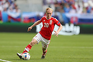 Jonathan Williams of Wales in action. Euro 2016, Wales v Slovakia at Matmut Atlantique , Nouveau Stade de Bordeaux  in Bordeaux, France on Saturday 11th June 2016, pic by  Andrew Orchard, Andrew Orchard sports photography.