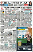 March 19, 2021 (ASIA-PACIFIC): Front-page: Today's Newspapers In Asia-Pacific