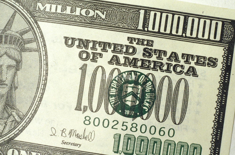 fake 1 million dollar bill