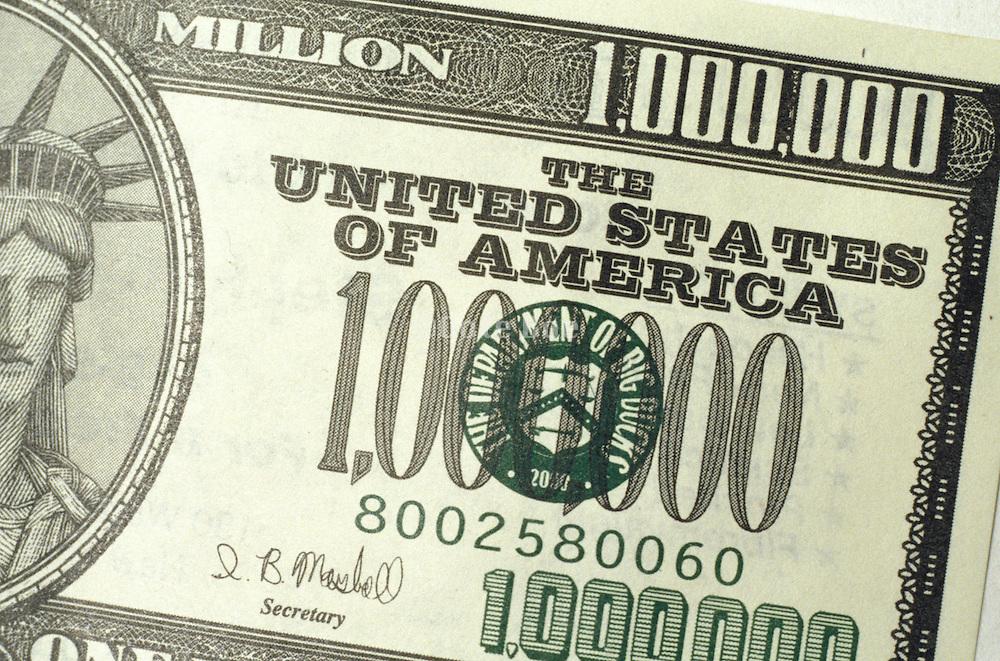 fake 1 million dollar bill