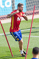 Sergio Ramos during the training of the spanish national football team in the city of football of Las Rozas in Madrid, Spain. August 28, 2017. (ALTERPHOTOS/Rodrigo Jimenez)