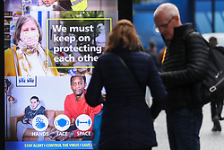 © Licensed to London News Pictures. 02/10/2020. Liverpool, UK. Masked shoppers in Liverpool aren't deterred by impending lockdown restrictions at midnight. Photo credit: Kerry Elsworth/LNP