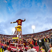 USC Football defeats Notre Dame in the Coliseum on November 26, 2016