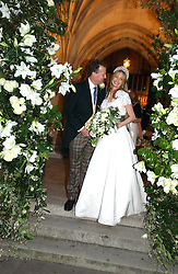 ORLANDO FRASER and CLEMENTINE HAMBRO at the wedding of Clementine Hambro to Orlando Fraser at St.Margarets Westminster Abbey, London on 3rd November 2006.<br /><br />NON EXCLUSIVE - WORLD RIGHTS