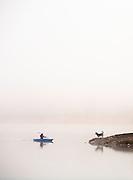Kayaker on Rainy Lake
