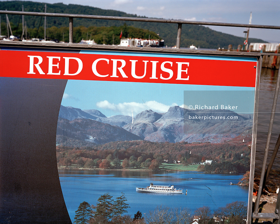 Cruising poster for one particular boating excursion on Lake Windermere.