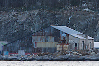 En gammel bygning på Flatholmen i Ålesund.<br /> Foto: Svein Ove Ekornesvåg