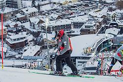 "29.01.2019, Planai, Schladming, AUT, FIS Weltcup Ski Alpin, Slalom, Herren, Streckenbesichtigung, im Bild Trainer Michael Pircher // Coach Michael Pircher during course inspection for the men's Slalom ""the Nightrace"" of FIS ski alpine world cup at the Planai in Schladming, Austria on 2019/01/29. EXPA Pictures © 2019, PhotoCredit: EXPA/ Dominik Angerer"