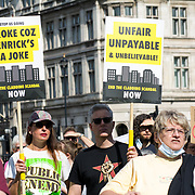 End Our Cladding Scandal demand the law protest Leasehold Laws. Stop used Leaseholder as endless cash cows, Parliament Square on 2021-09-16, London, UK.