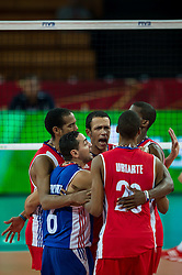 14.09.2014, Centennial Hall, Breslau, POL, FIVB WM, Kuba vs China, 2. Runde, Gruppe F, im Bild Kuba radosc // Cuba gladness during the FIVB Volleyball Men's World Championships 2nd Round Pool F Match beween Cuba and China at the Centennial Hall in Breslau, Poland on 2014/09/14. EXPA Pictures © 2014, PhotoCredit: EXPA/ Newspix/ Sebastian Borowski<br /> <br /> *****ATTENTION - for AUT, SLO, CRO, SRB, BIH, MAZ, TUR, SUI, SWE only*****
