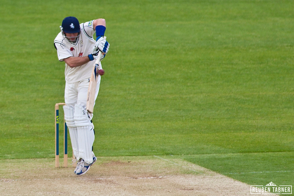 Darren Stevens of Kent CCC bats during the first day of the LV= Country Championship against Durham CCC at the Riverside.