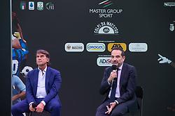 GIOVANNI CARNEVALI E MATTEO MARANI  <br /> INAUGURAZIONE CALCIOMERCATO 2021 GRAND HOTEL RIMINI