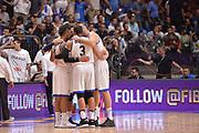 Marco Belinelli,Daniel Hackett,Luigi Datome<br /> Nazionale Italiana Maschile Senior<br /> Eurobasket 2017 - Group Phase<br />  Italia Israele Italy Israel<br /> FIP 2017<br /> Tel Aviv, 31/08/2017<br /> Foto Ciamillo - Castoria/ M.Longo